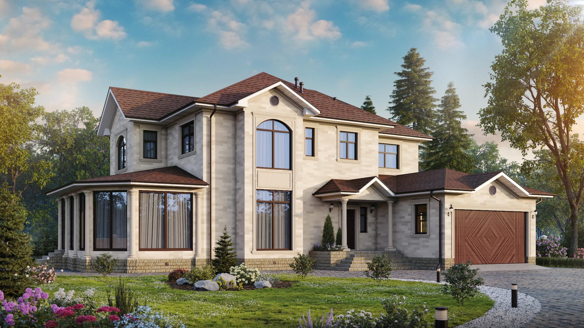 готовые элитные загородные дома фото
